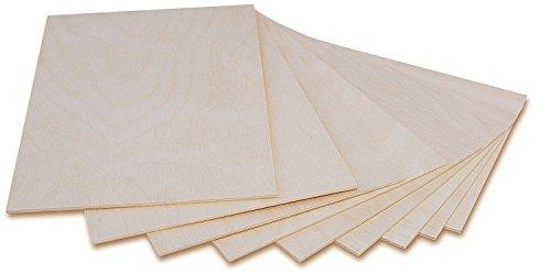 Creative Deco 10 x A5 Holzplatte Sperrholz Laubsäge 3mm   148 x 210 x 3 mm   Dünne Platten Blatt Birke Holz Spanplatte   Perfekt für Brandmalerei, Laserschnitt, CNC Router, Durchbrochenes