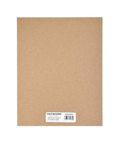 "Grafix Spanplatten-Blatt, mittelschwer, 30,5 x 30,5 cm, Weiß, 25 Stück 4"" x 6"" Natur"