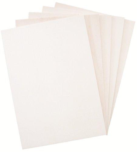 Hagspiel Laubsägeholz, 10 Stk. Sperrholz, Sperrholzplatten, Pappel 4 mm DIN A4 (30 cm x 21 cm),