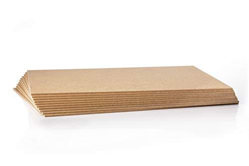 10 Stück MDF Platte - 2,5 mm - Holzzuschnitt in 50 X 70 cm - 500 X 700 mm